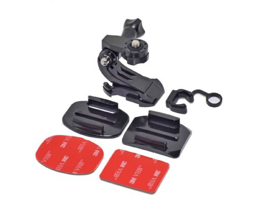 Helmet Mount Kit Curved or Flat Surface for Action & Digital Cameras & GoPro